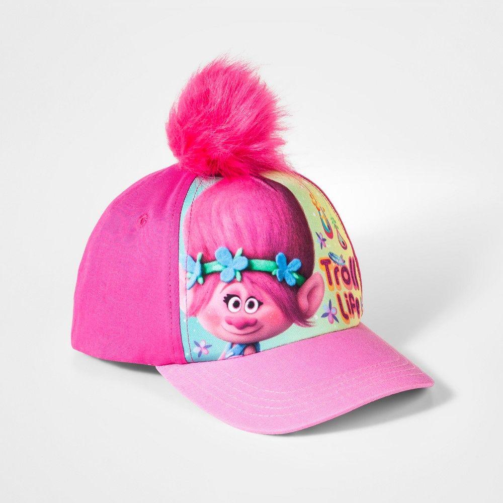 Girls  Trolls  Troll Life  Baseball Cap - Pink  46f086a7c6b7