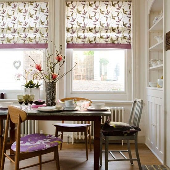 Dining room looks ideal for long lazy Sunday breakfasts.