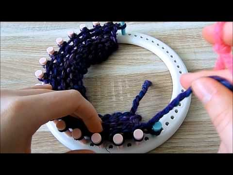 Sjaal Breien Op Brei Ring Youtube Loom Knitting Pinterest