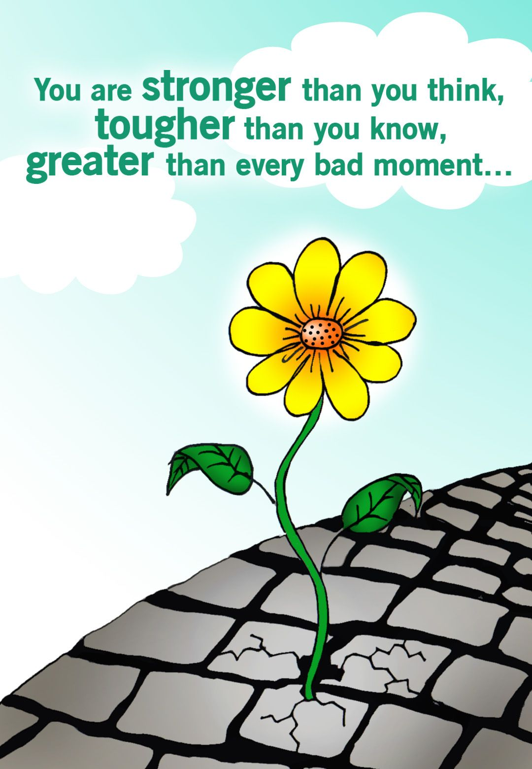 Free Printable Stronger Than You Think Greeting Card Stronger Than You Think Get Well Cards Thinking Of You