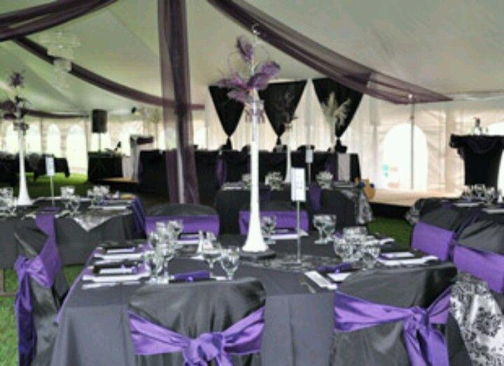 Black purple and white wedding My dream wedding