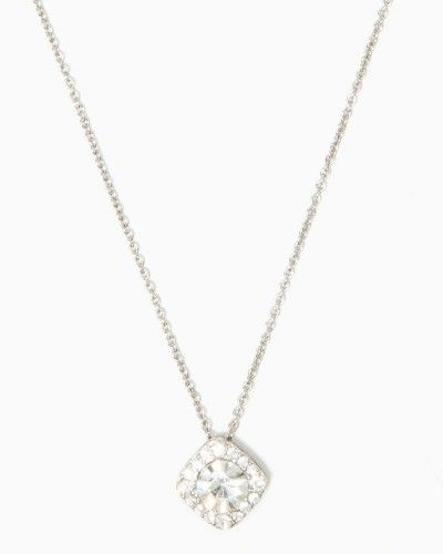 Bridesmaid Jewelry Options - Crystal Square Pendant Necklace - Charming Charlie