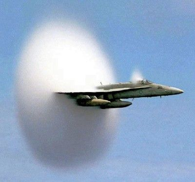 Plane that passes trough the sound barrier.
