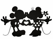 Svg Disney Kissing Mickey And Minnie Silhouette By Creative0803 Disney Silhouettes Mickey Silhouette Mickey And Minnie Kissing