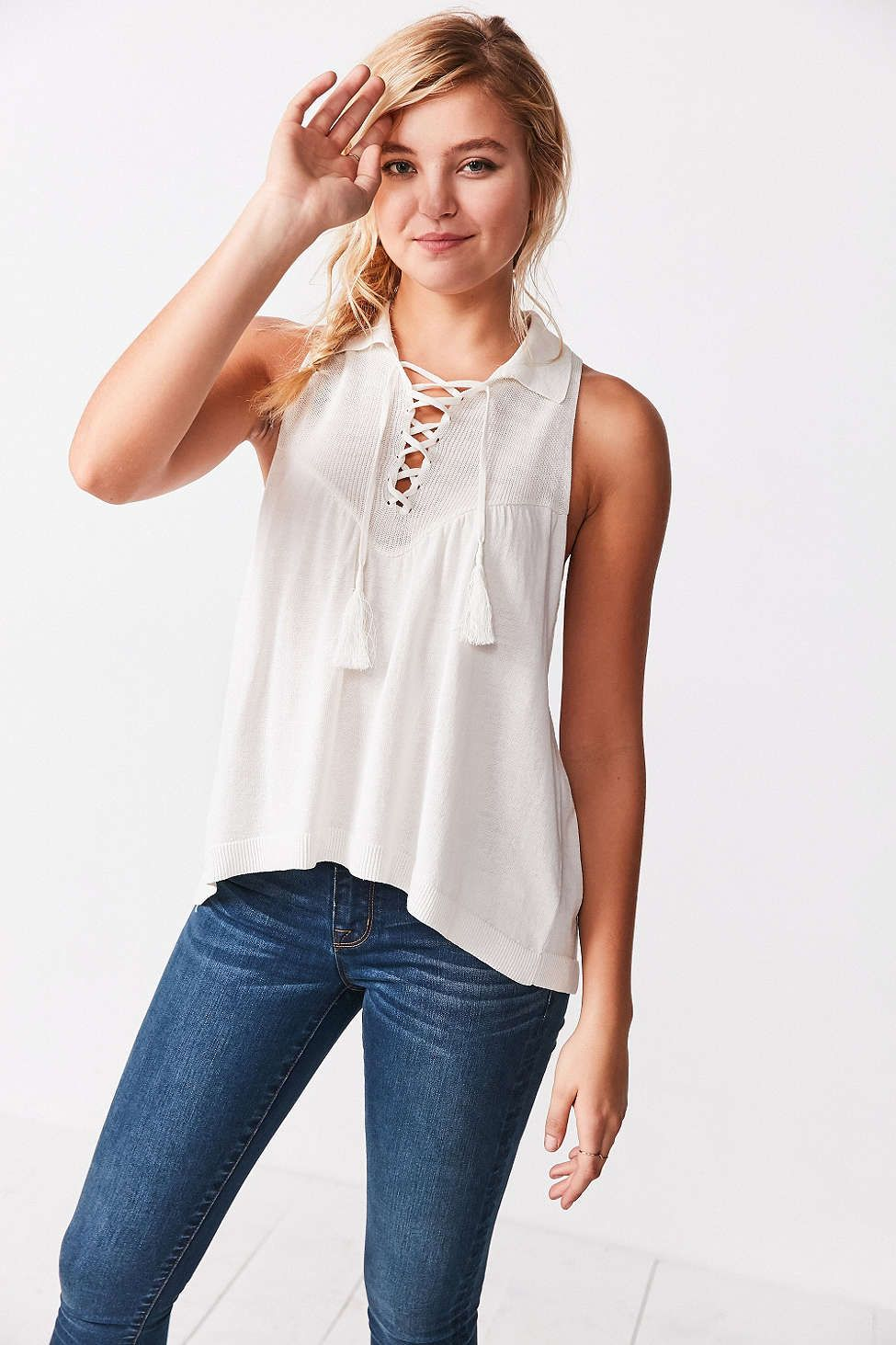 Ecote Lace-Up Swing Tank Top  b668730fa