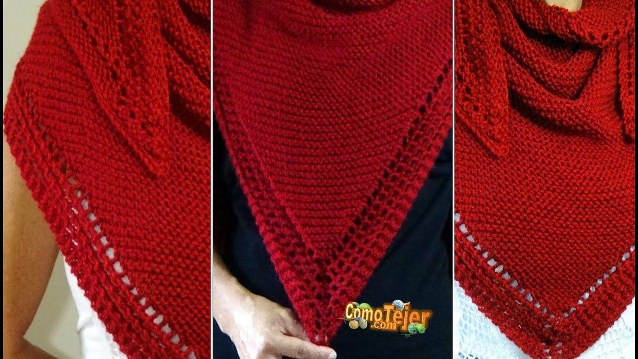 Cómo Tejer CHAL DE LUJO - Knitting a Shawl - 2 agujas (376 ...