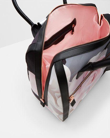 fc76c09d3 PORCELAIN ROSE TRAVEL BAG - Black | Bags | Ted Baker UK | Ted baker ...