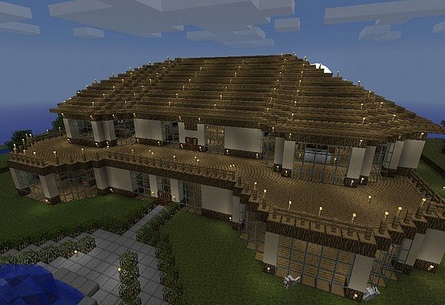 Big House Minecraft Mansion Blueprints Download And Map House