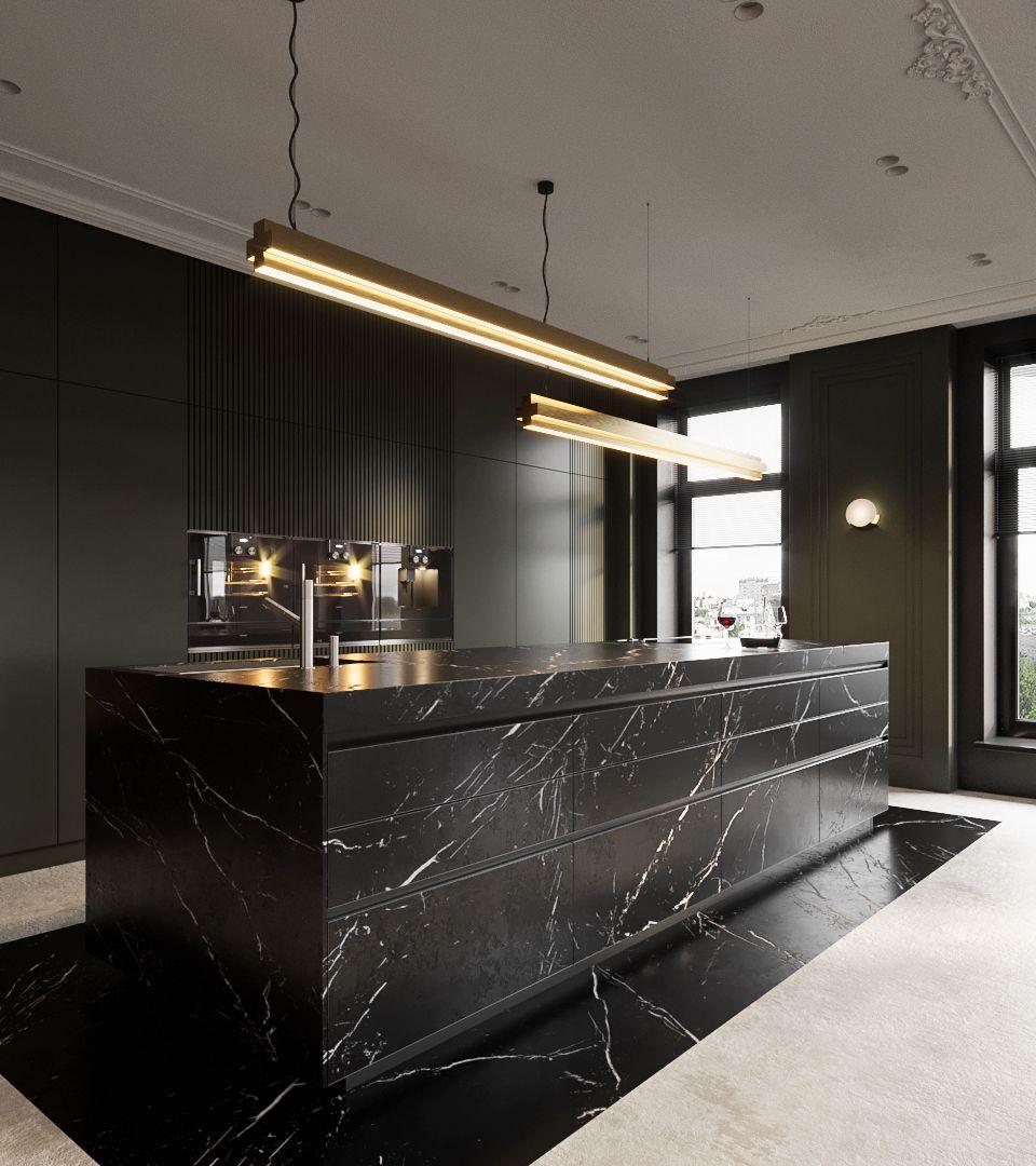 A Sleek Kitchen Design Deserves High Performance Appliances Which Inspire Gaggenau Kitchen Appli Sleek Kitchen Design Modern Houses Interior Sleek Kitchen
