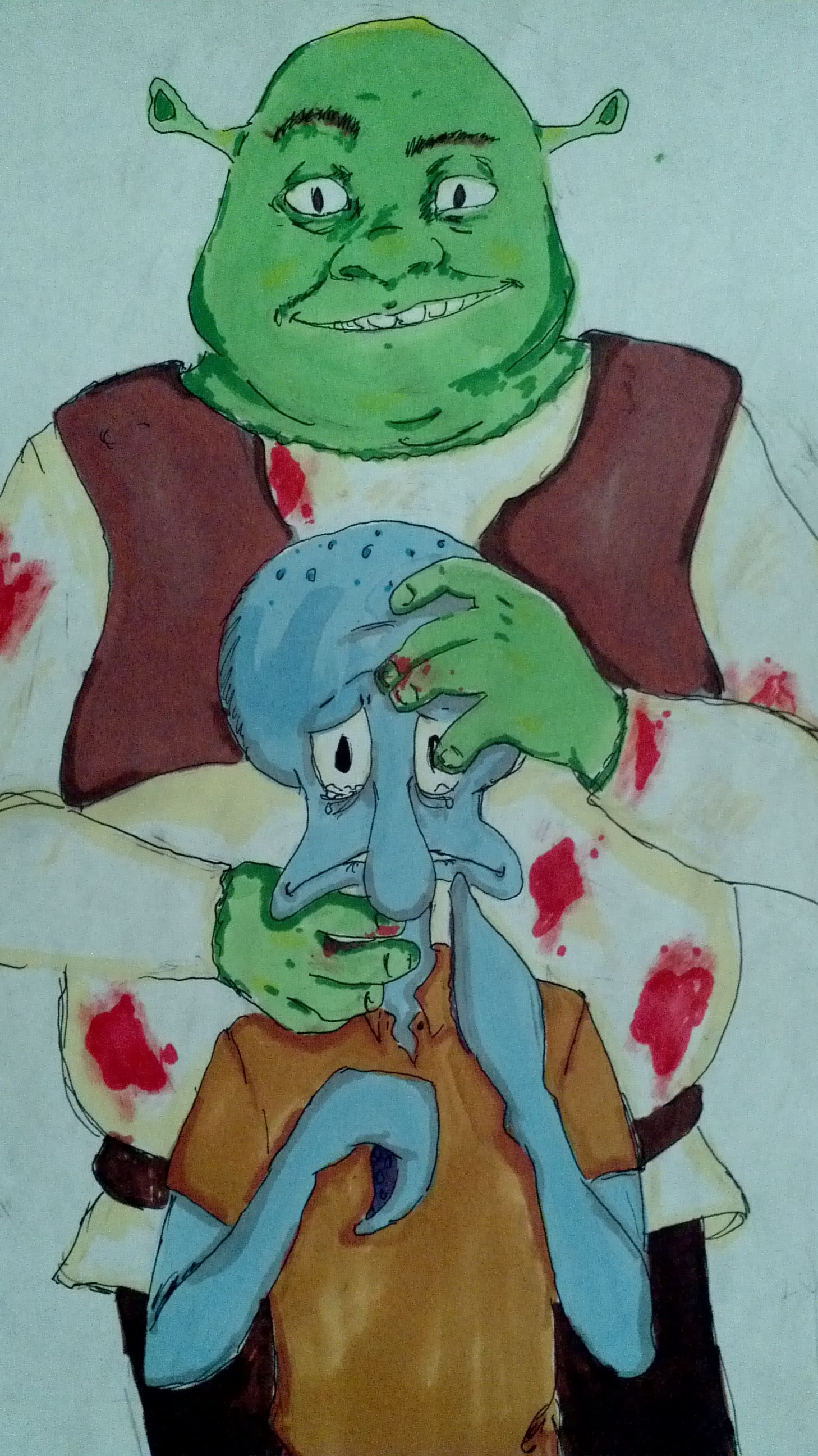 Ahhhh After An Hour Of Screaming And Lots Of Tears I Still Regret Nothing Shrek Memes Shrek Cursed Images