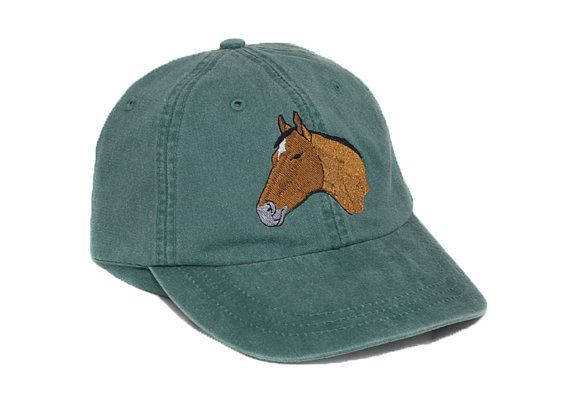 9897b979c06e4 Horse embroidered hat baseball cap riding equestrian hat ...