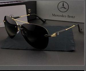 60386edc38 a mercedes benz polarizado gafas de sol amg marca 743 marco dorado lentes  gris