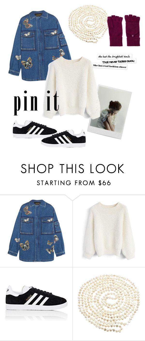"""🌑🎊"" by mynemeisyano ❤ liked on Polyvore featuring Polaroid, F, Valentino, Chicwish, adidas, Lido Pearls and Fraas"