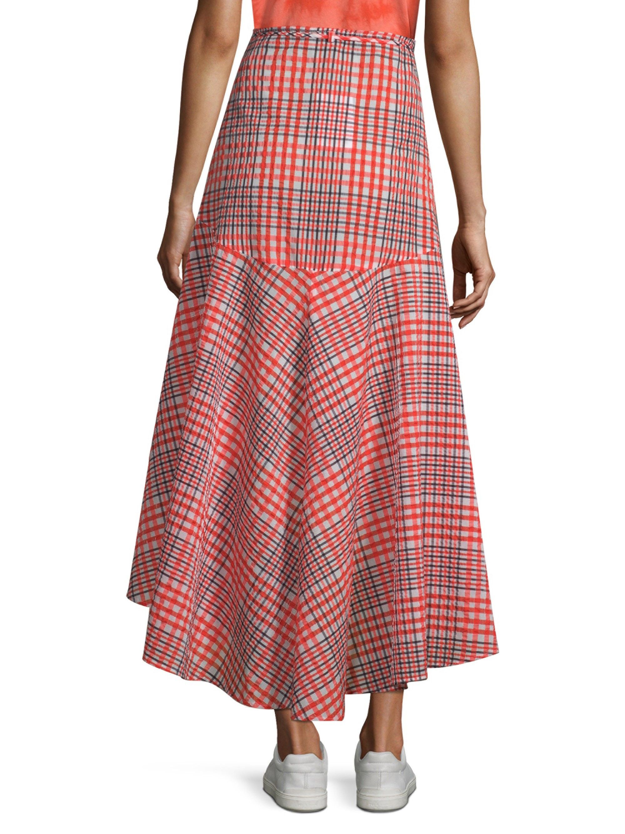 4521633fb1 Ganni Charron Plaid Wrap Skirt - Big Apple 40 (8) | Products ...