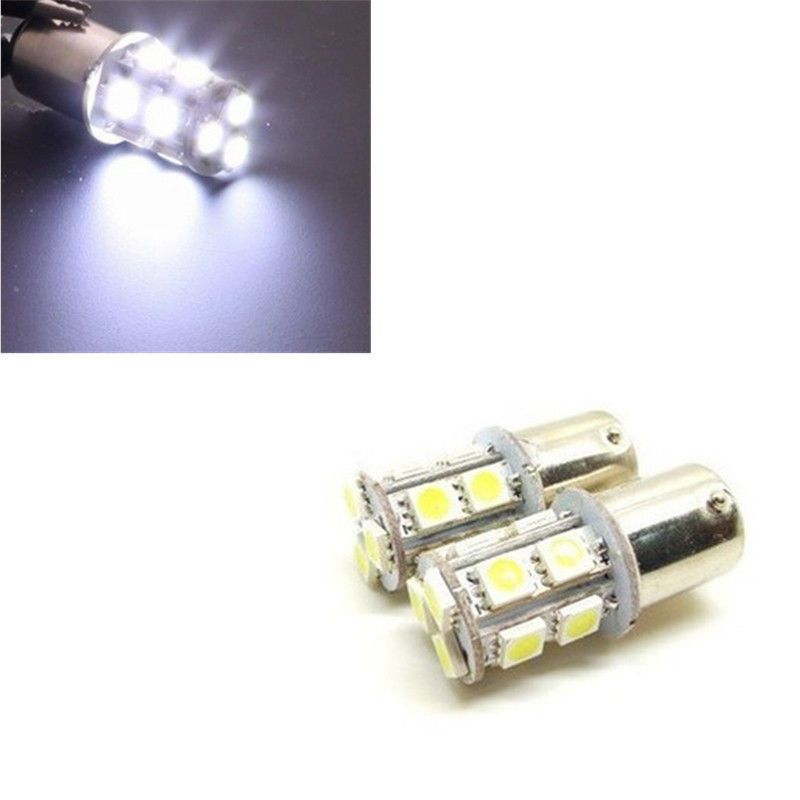 1xcar 1156 Ba 15s Globes 13 Led Brake Turn Stop Tail Light Lamp Bulbs New Dc 12v White Lamp Bulb Lamp Light Car Lights