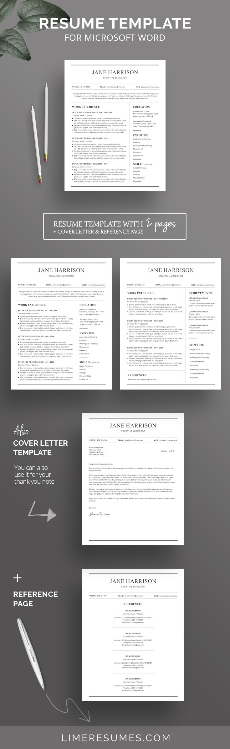 Minimalist Resume Template Minimalist Resume Template  Minimalist Resume Design  Pinterest .