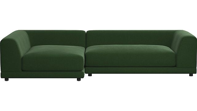 Uno 2 Piece Sectional Sofa 2 Right Arm Sofas Shown In Angel
