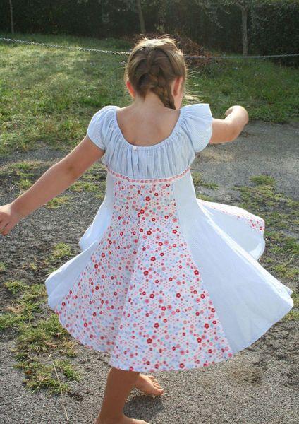 Kleid♥*Elodie*-Kleid♥+Gr.+128+Sommerkleid+Haarband+von ...