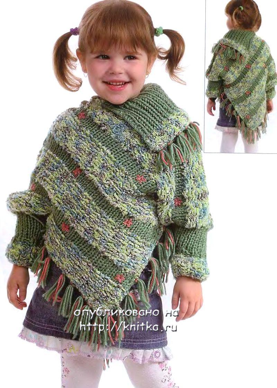 poncho niña con mangas | poncho misto | Pinterest