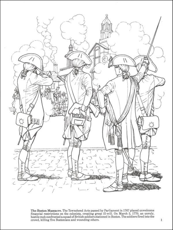 story of the american revolution coloring bk additional photo inside page - American Revolution Coloring Pages