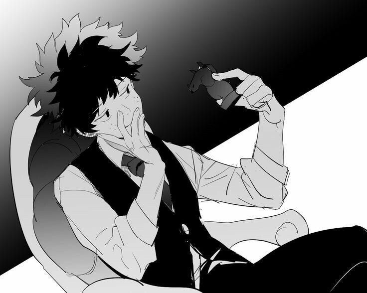 """Midoriya """"Deku"""" Izuku, villain, chess piece, knight; My Hero Academia"""