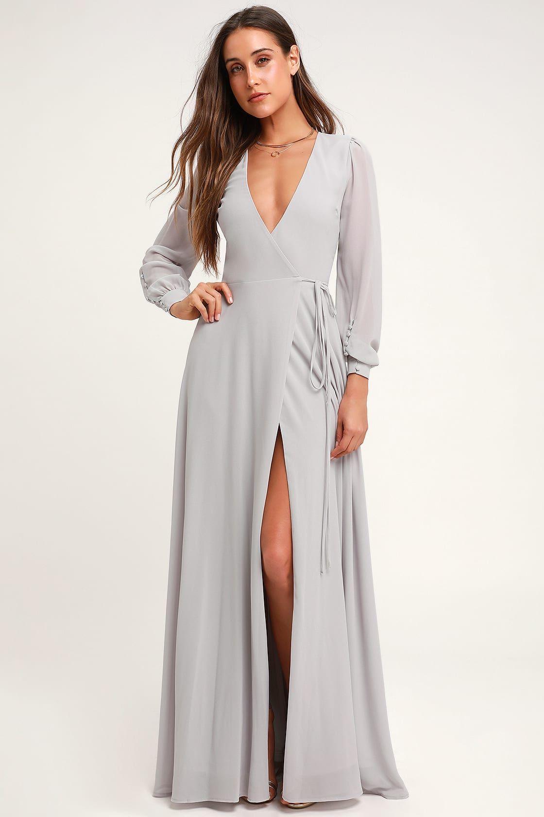 My Whole Heart Light Grey Long Sleeve Wrap Maxi Dress Grey Maxi Dress Maxi Dress Grey Long Sleeve Dress [ 1680 x 1120 Pixel ]