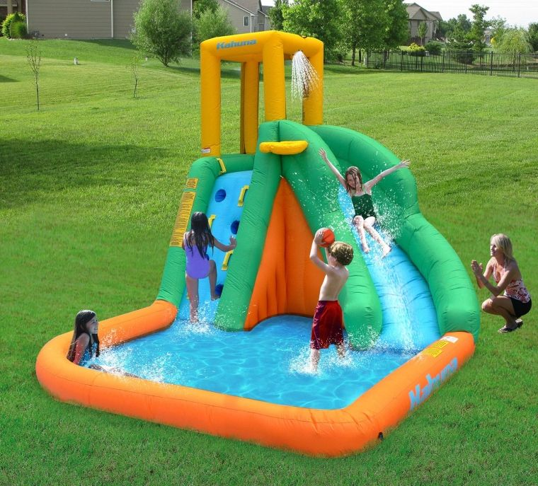 Inflatable Slide Pool Tesco: Magic Time Tornado Twist Inflatable Water Slide And Splash