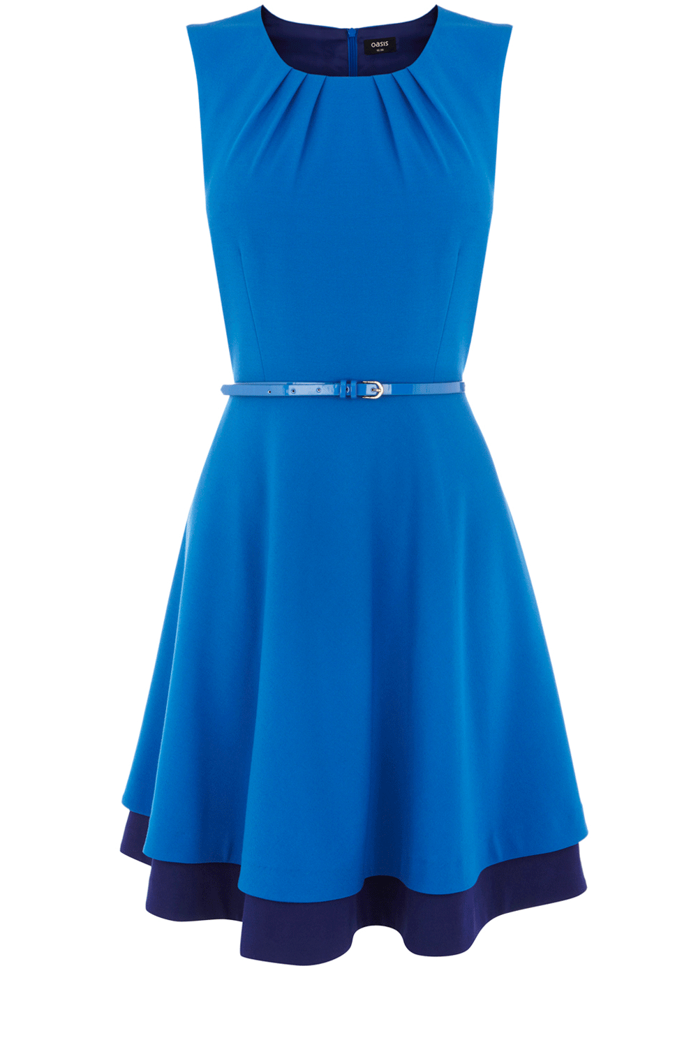 cfac6aa51946 Love this pretty blue dress from Oasis, especially the darker blue  underskirt