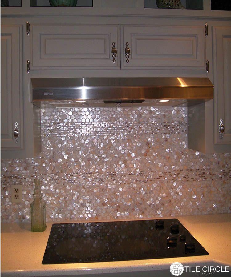 Mother Of Pearl Natural Varied 1 Circles Tile Glass Mosaic Backsplash Kitchen Mother Of Pearl Backsplash Glass Mosaic Backsplash