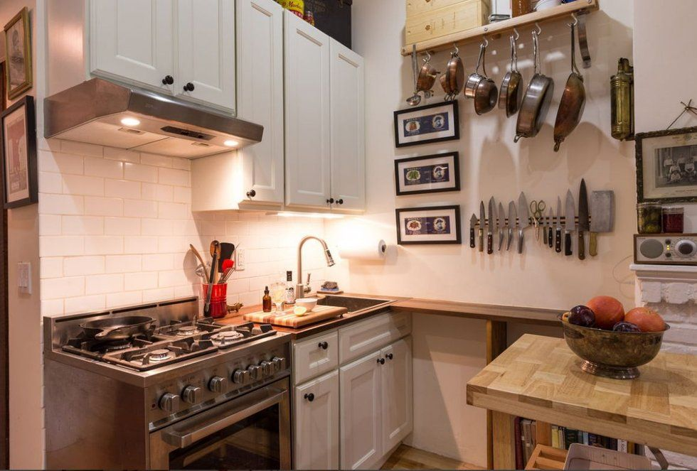 The Most Stylish Small Space Apartments Studios And Lofts To Inspire City Dwellers Small Apartment Kitchen Kitchen Decor Apartment Apartment Kitchen