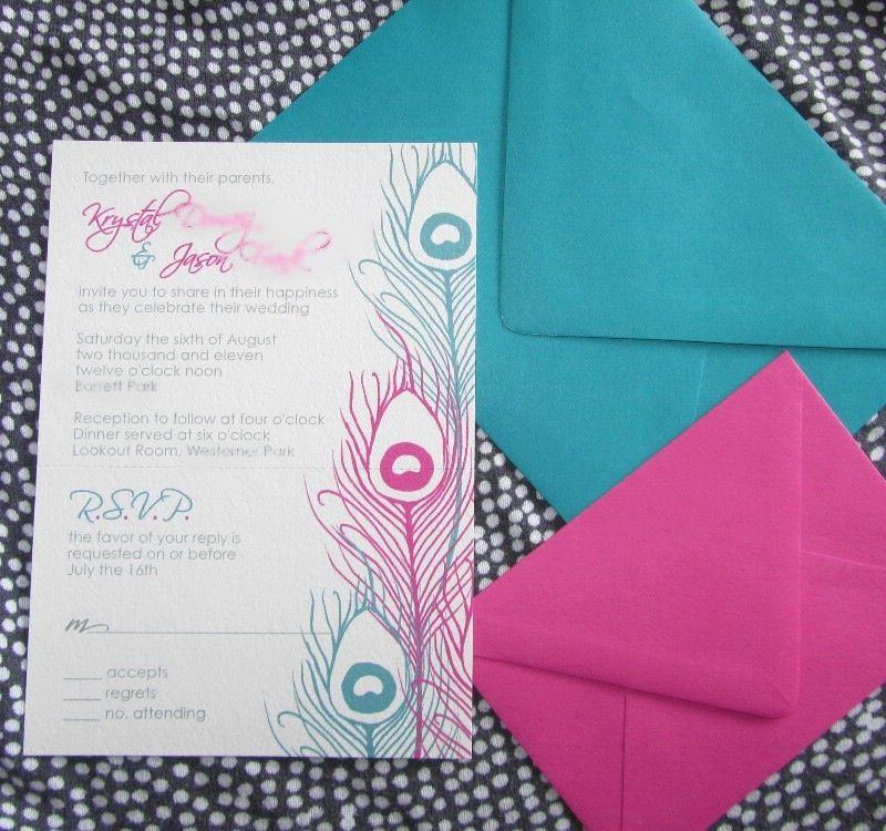 Invitation ideas peacock wedding invitations teal