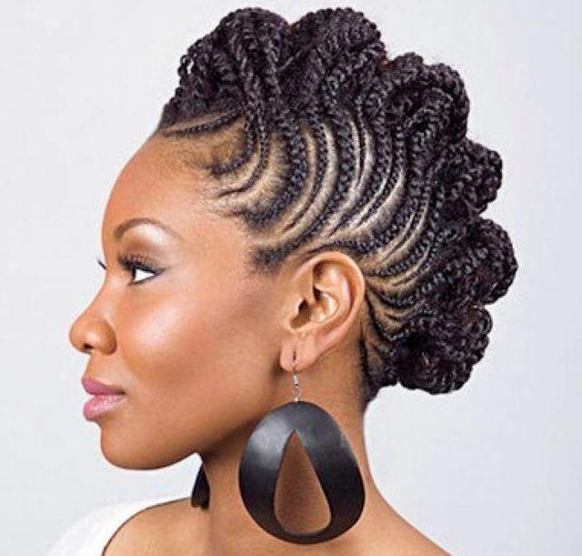 Braided Mohawk Hairstyles braided mohawk styles braided mohawk hairstyles for black women 12 Braided Mohawk Hairstyles That Get Attention
