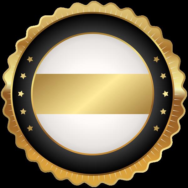 Seal Badge Black Gold Png Clip Art Image Bingkai Bingkai Foto Desain
