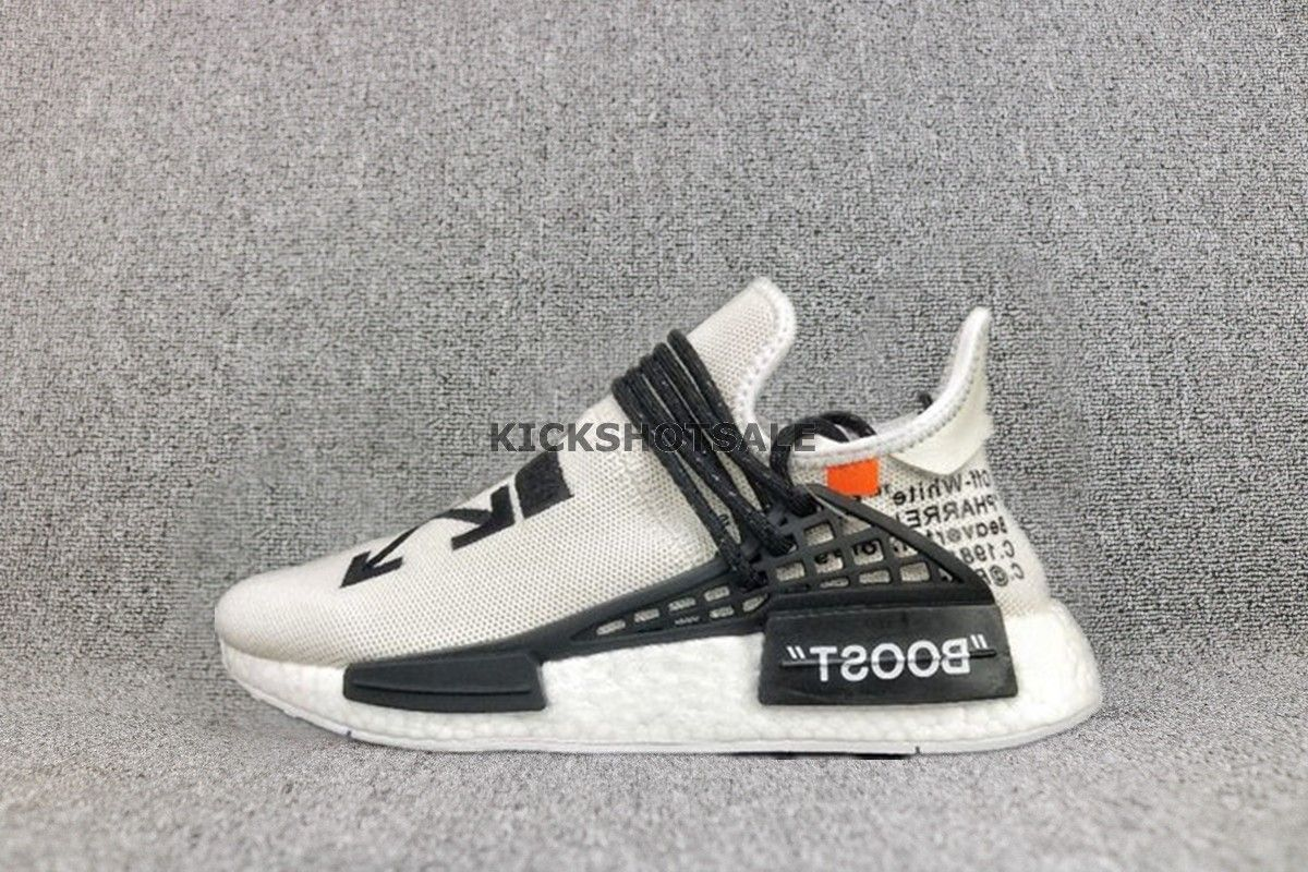 Off White x Adidas NMD HU Pharrell Human Race ''WhiteBlack