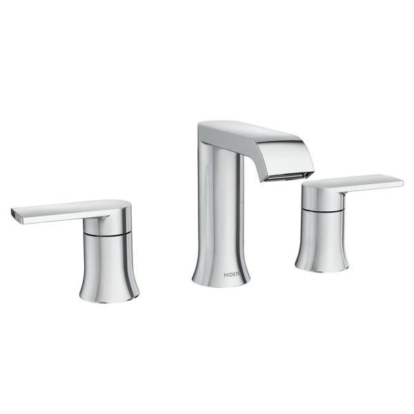 Moen Genta 8 In Widespread 2 Handle Bathroom Faucet In Chrome 84763 The Home Depot In 2020 Widespread Bathroom Faucet Bathroom Sink Fixtures Bathroom Faucets