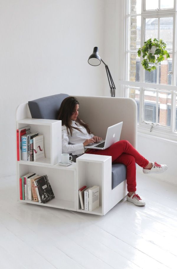 A Bookshelf Chair For Book Lovers To Store More Books