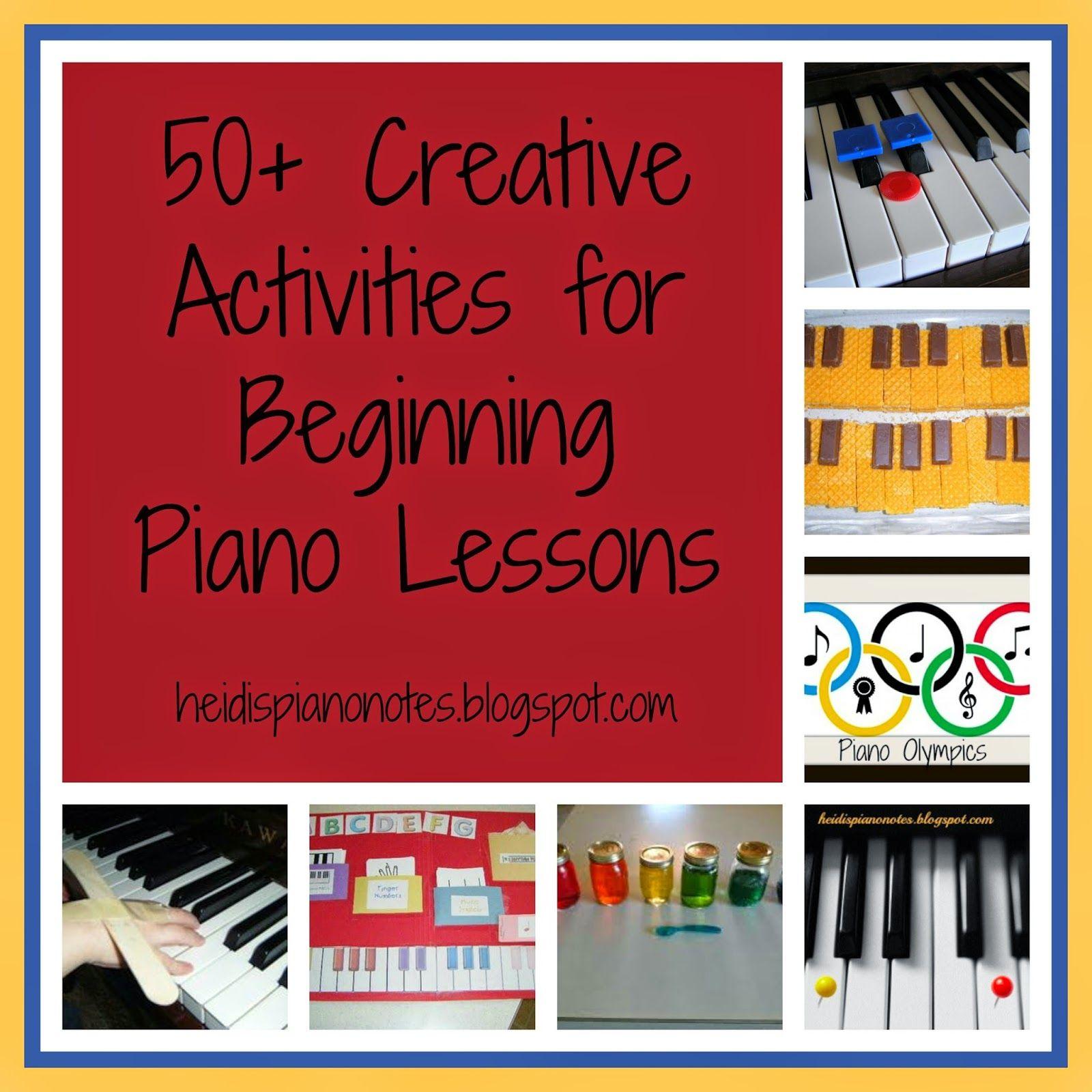 Heidi S Piano Studio Creative Activities For Beginning