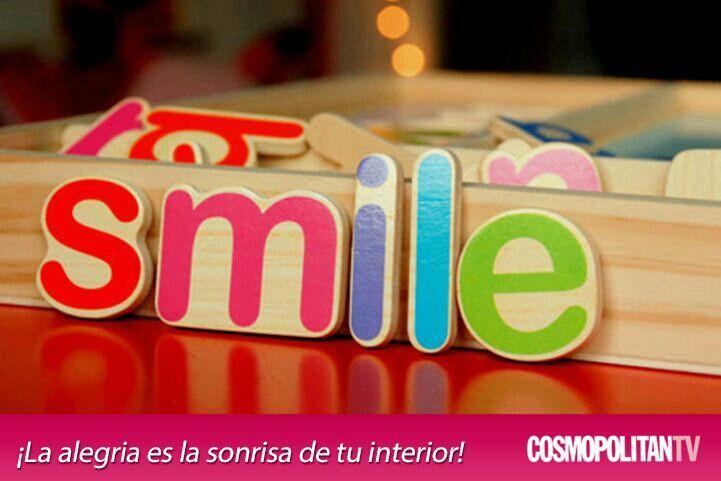 La alegría en la sonrisa de tu interior
