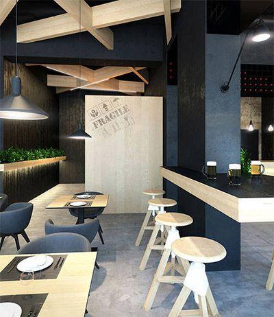 contemporary cafe design in ukraine commercial interior design news - Contemporary Cafe Interior