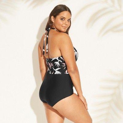 5cc4f289b8c Women s Plus Size High Neck One Piece Swimsuit - Sea Angel Black 3X ...