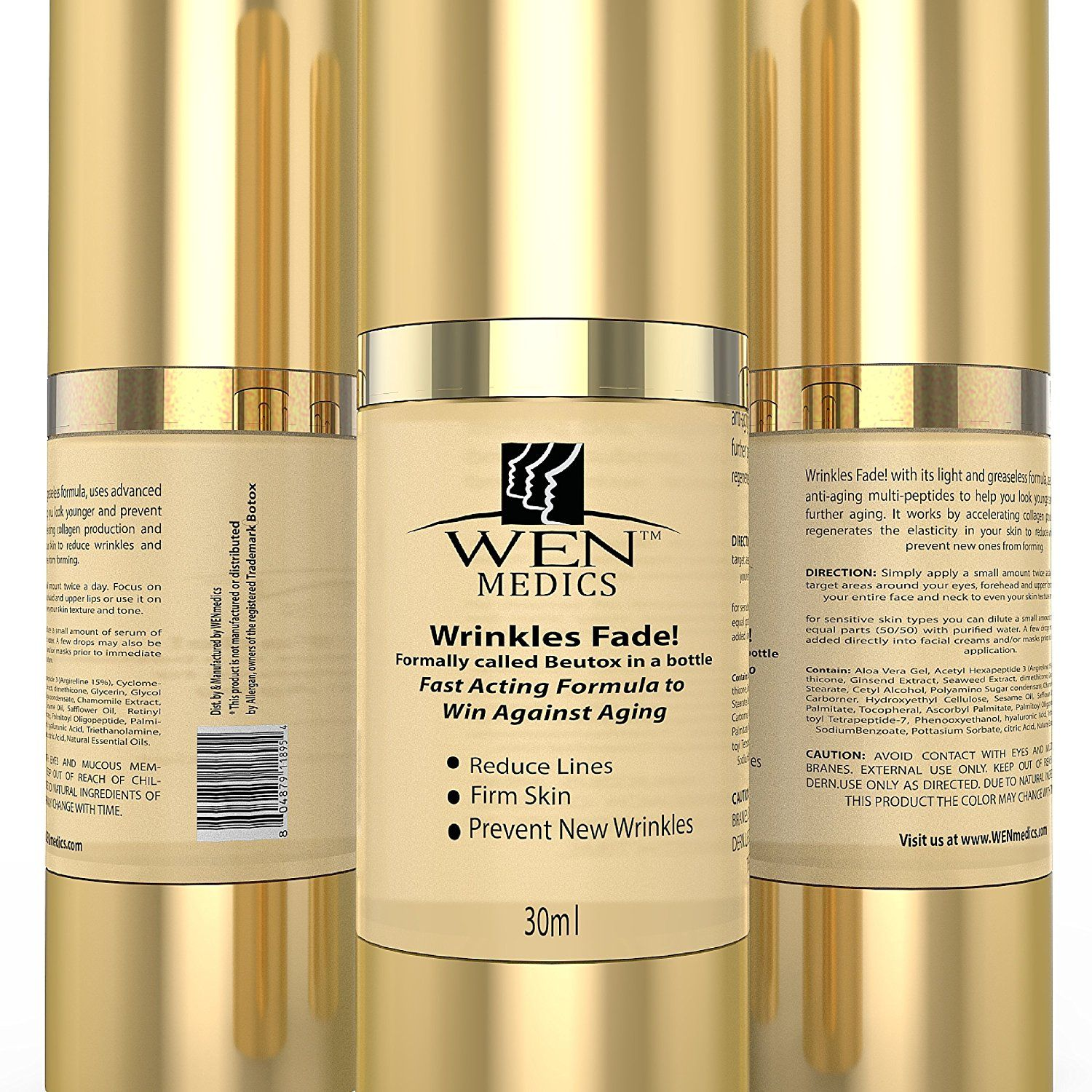 Potent wrinkle reversing anti aging moisturizing serum with multi