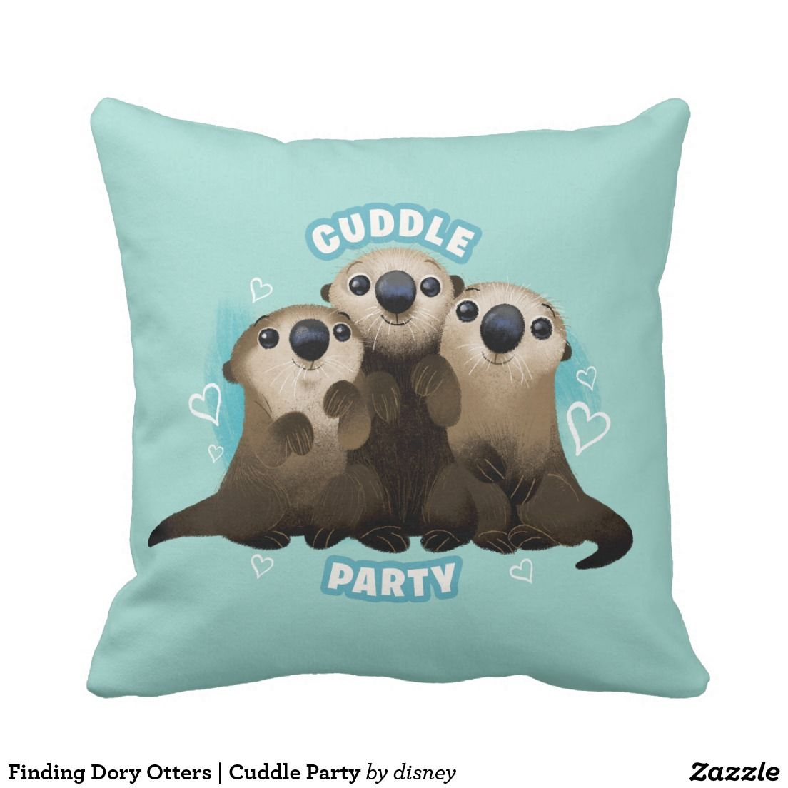Finding Dory Otters | Cuddle Party Pillow.  Artwork designed by Disney. Price $25.44 per pillow