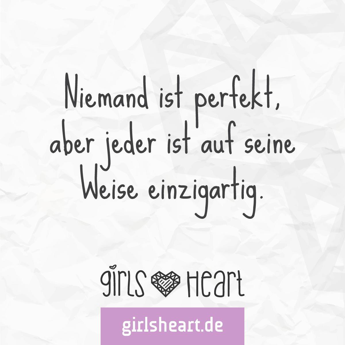 Jeder ist etwas Besonderes! Mehr Sprüche auf: .girlsheart.de