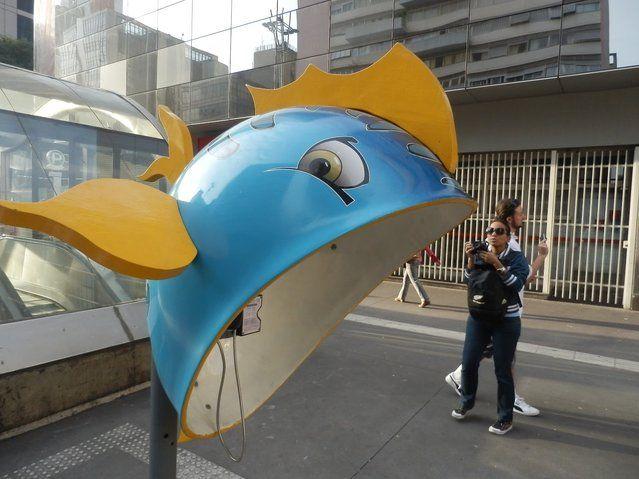 Work: FishArtist: FLAVIO Scocco DE ABREUAddress: Avenida Paulista, 2224 – Metro Consolation - Santander / Itau