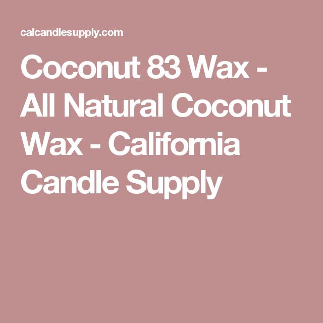 Coconut 83 Wax - All Natural Coconut Wax