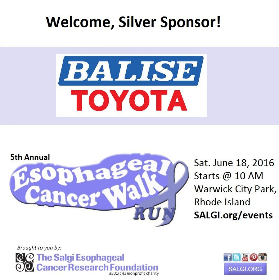 Please Join Us In Welcoming Balise Toyota Scion Of Warwick, Silver Sponsor  For The 5th