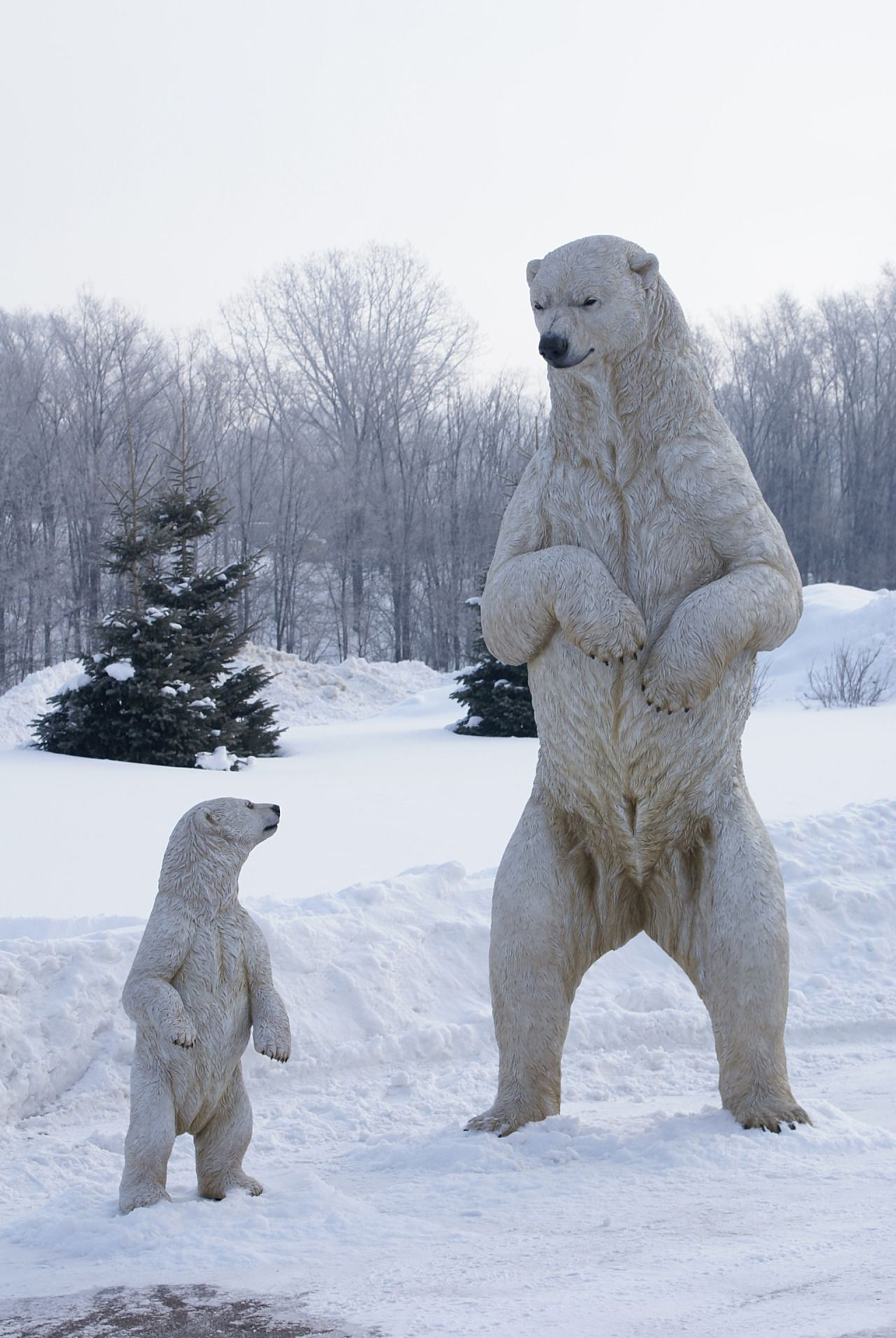 Another oldie, from 2010, our life-size, realistic Polar Bear ...
