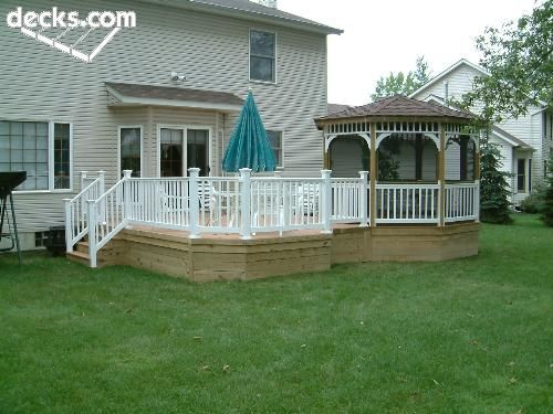 Love The Gazebo Attached To Deck