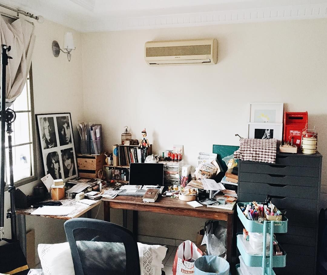 good morning from my current messy craftstation/work desk by ...