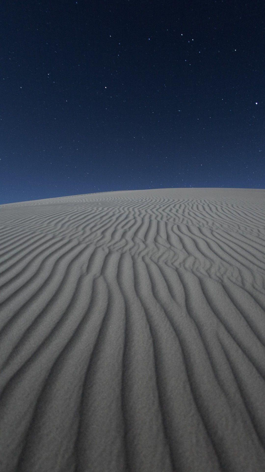 Dark Desert Night 5k Mobile Wallpaper (iPhone, Android